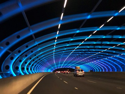 CityLink Sound Tube at night
