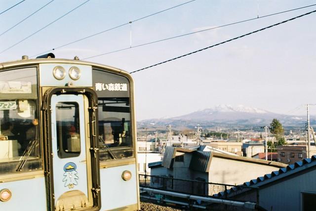 Train and mountain