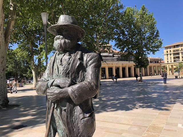 Estatua de Cézanne en Aix-en-Provence