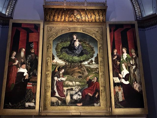 Tríptico de la Zarza ardiente de Nicolas Froment en la catedral de Aix-en-Provence