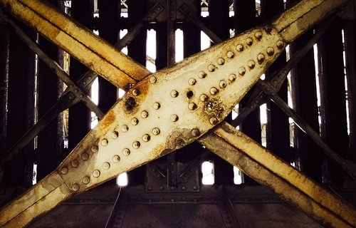 shreveport louisiana unitedstatesofamerica railroad bridge kcs downtownshreveport rust