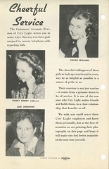 City Light telephone customer service, 1945