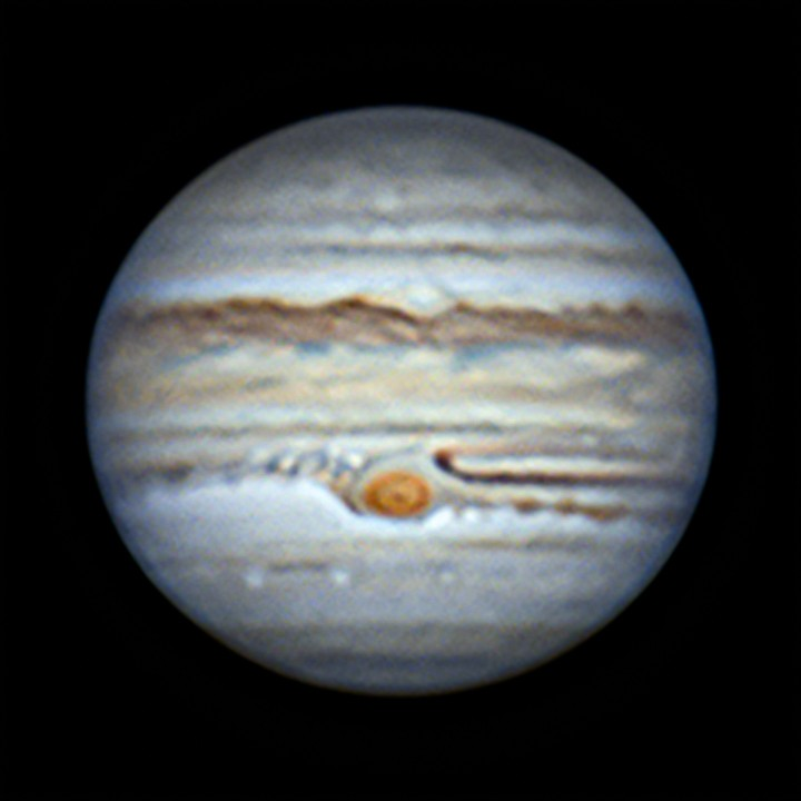 木星 (2019/6/13 22:07) (再々処理(wavelet 2回))