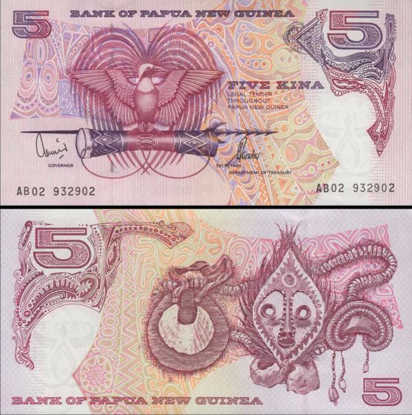 5 Kina Papua Nová Guinea 2002, P13e