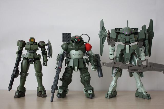 [HGAC] OZ-06MS Leo X [HGBD] Armored Trooper Grimoire - Red shoulder custom weapons X [HGBF] Striker GN-X