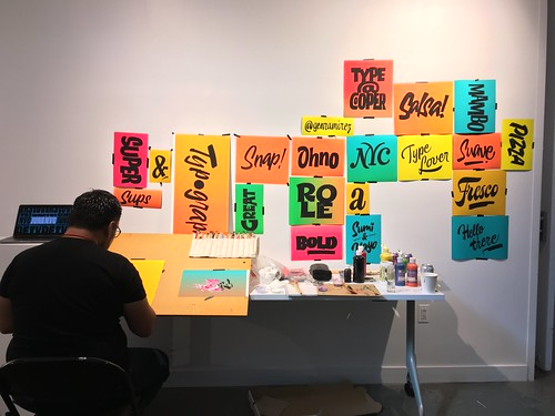 Gen Ramírez sign painting at Typographics