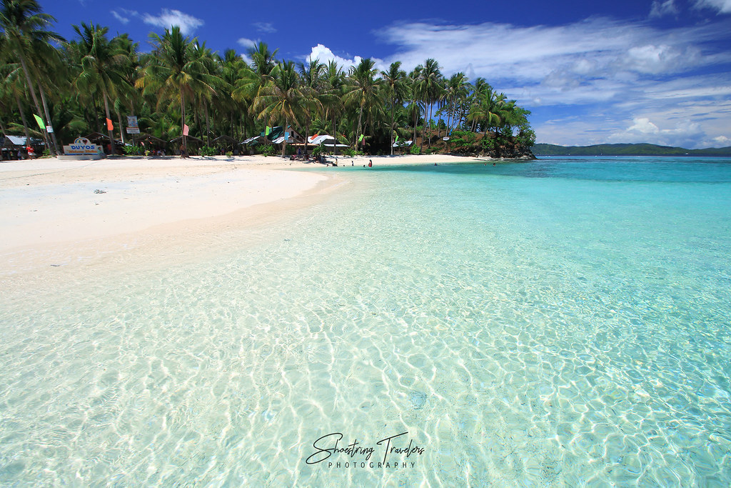 Duyos Beach viewed from the sandbar