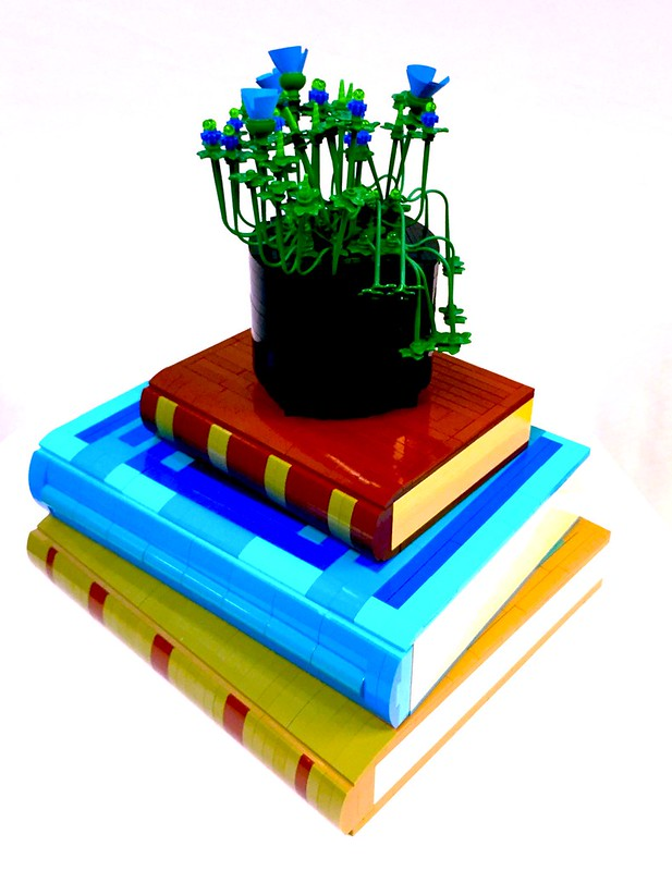Small Planter on Books