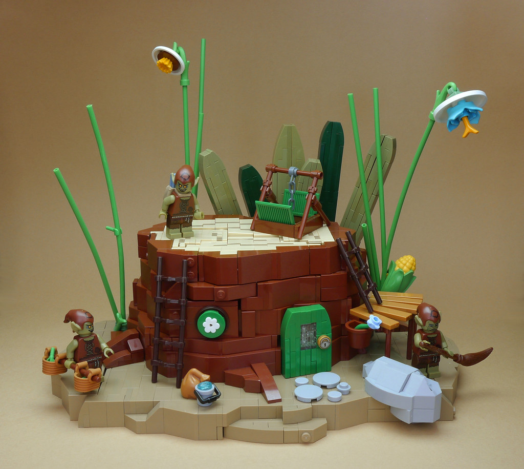 the imp's tree stump (custom built Lego model)