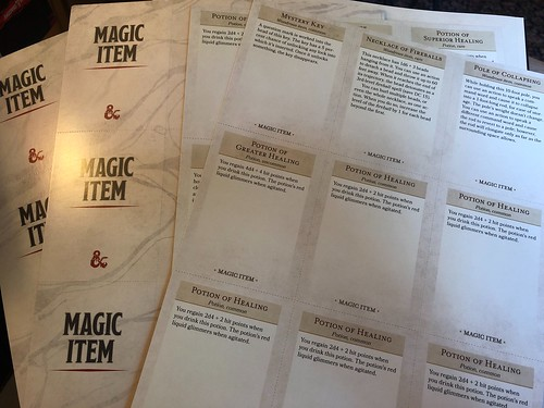 D&D Essentials Kit 09 - Magic Item Cards