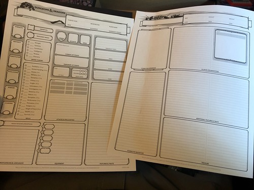 D&D Essentials Kit 19 - Character Sheets