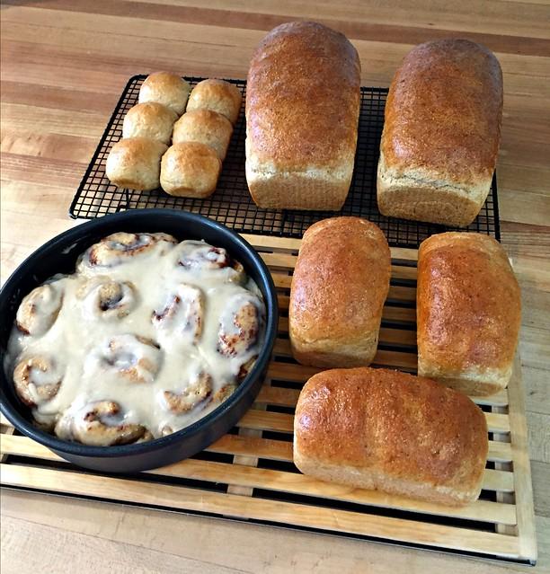 whole grain bread and rolls