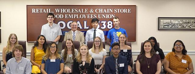 2019 Local 338 Scholarship Winners