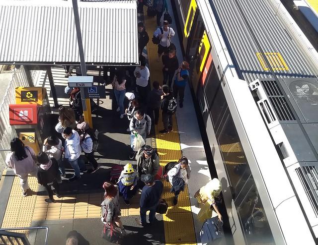 Brisbane: Park Road railway station during bustitution