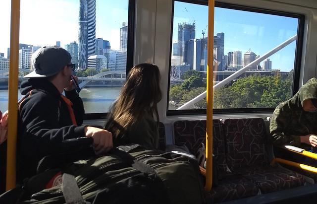 Brisbane from a train
