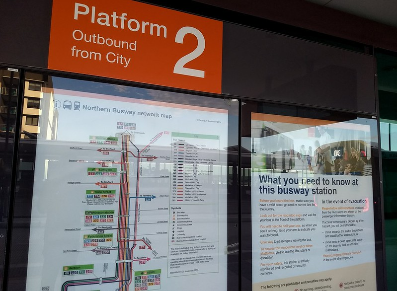 Brisbane: Busway map