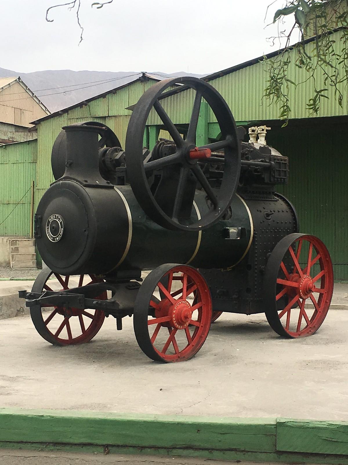 Old train engine in Antofagasta