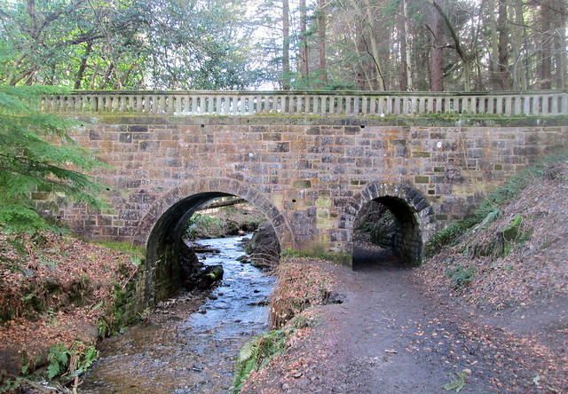 Bridge Over Burn at Maspin Glen, Falkland, Fife