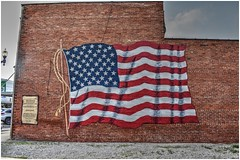 Wall Mural 'American Flag' @ Upper Sandusky, Ohio