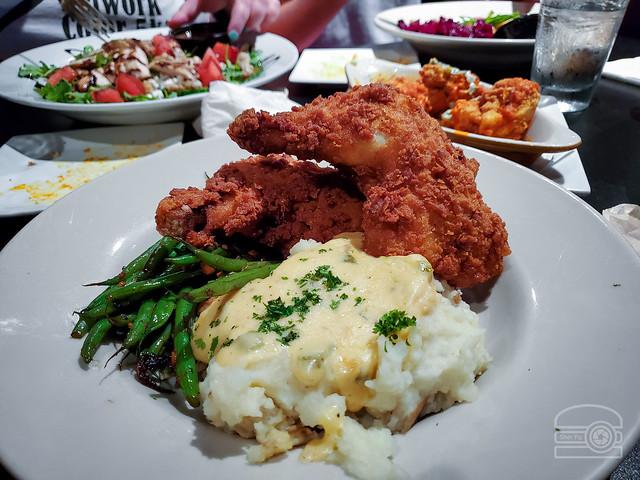 Winner-Winner Chicken Dinner! Seasoned flour fried chicken, sautéed green beans, garlic mashed potatoes w/jalapeño gravy - Iron Horse Tavern