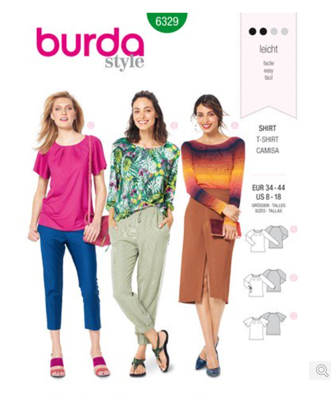 Burda pattern env B6329