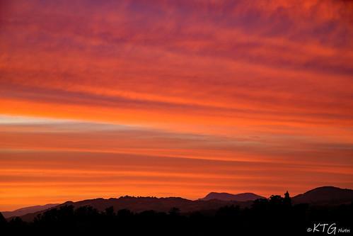 sunset mtsainthelena sonomacounty petaluma northerncalifornia