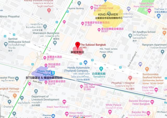 The Sukosol 泰國地圖