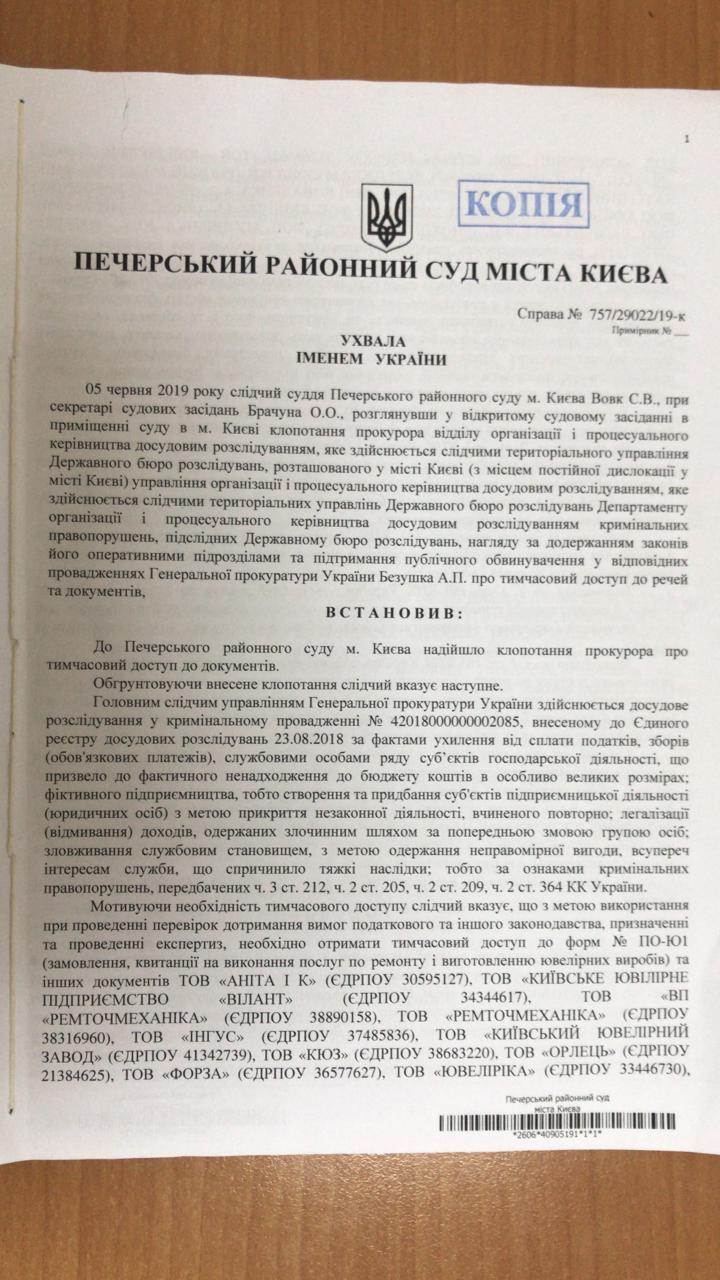 дело ювелиров 28.06.2019