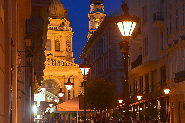 Night in The Town, Budapest, Hungary.