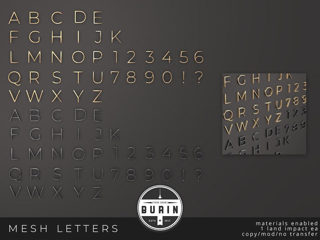 Mesh Letters