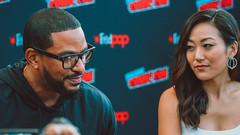 Actors Laz Alonso and Karen Fukuhara