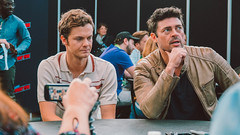 Actors Jack Quaid and Karl Urban