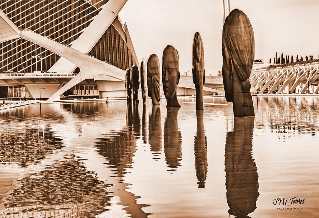 Jaume Plensa Ciudad de las Artes-HDR