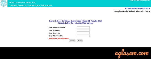 CBSE 12th Revaluation/ Re-verification 2019 Result, Form, Date (Available)