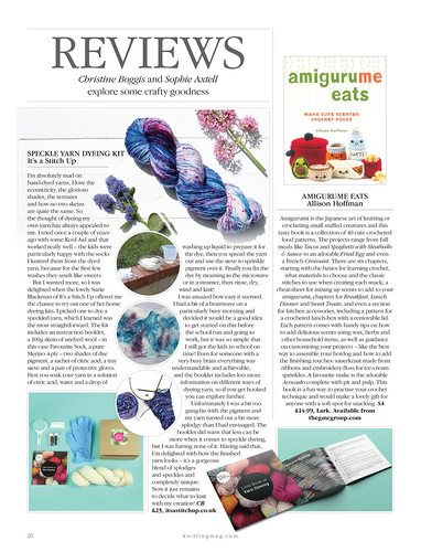excerpt from Knitting magazine showing Dye Kit review