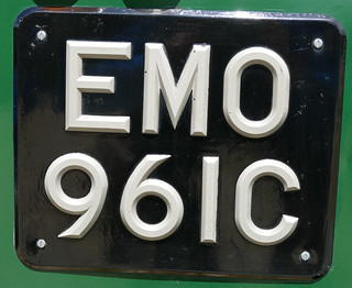 Numberplate for an EMO