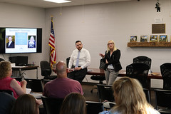 Reps. Davis and Hall hosted a post-session legislative update at the East Windsor Town Hall