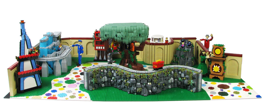 The Neighborhood of Make-Believe (custom built Lego model)