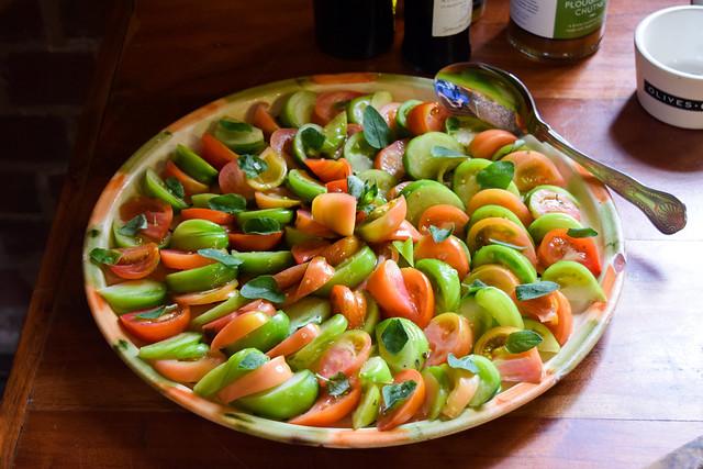 Tomato Salad at Macknade Fine Foods, Faversham