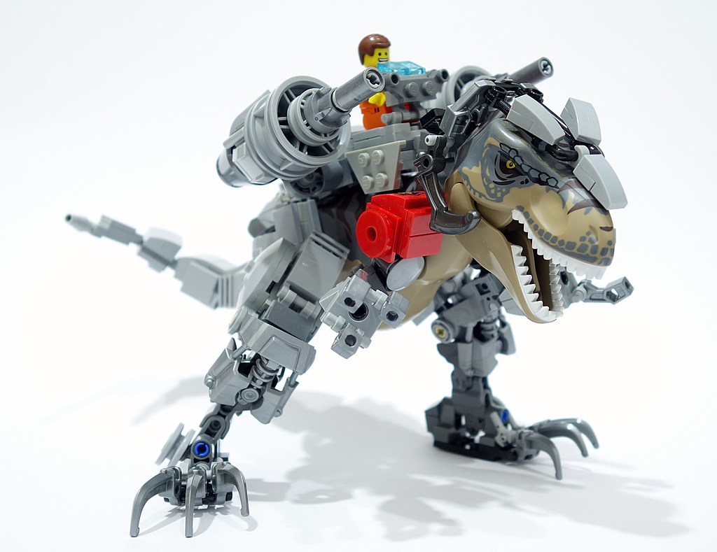 Dino Rider (custom built Lego model)
