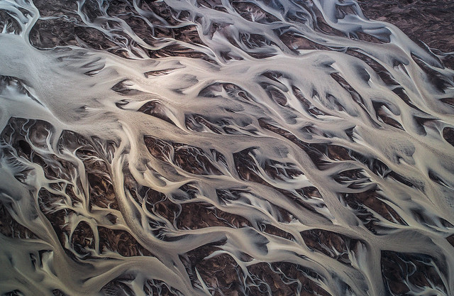 Abstract View of Glacial Rivers