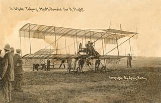Claude Graham White Flying His Henry Farman In The Harvard Flickr