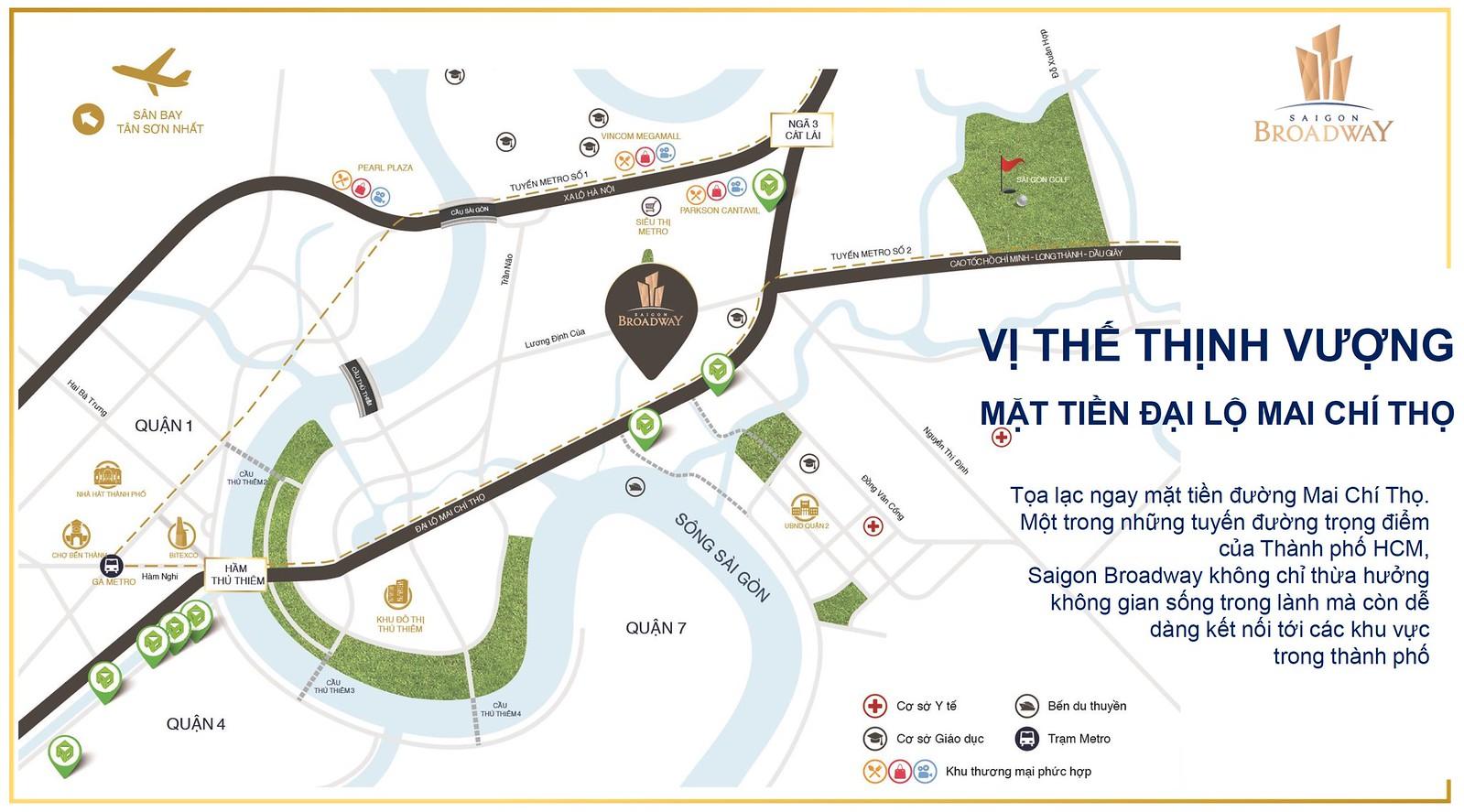 vị trí chiến lược cho Saigon Broadway