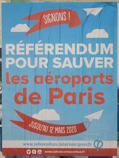 Rédérendum pour sauver les aéroports de Paris