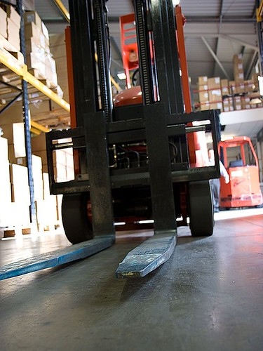 Working Forklift