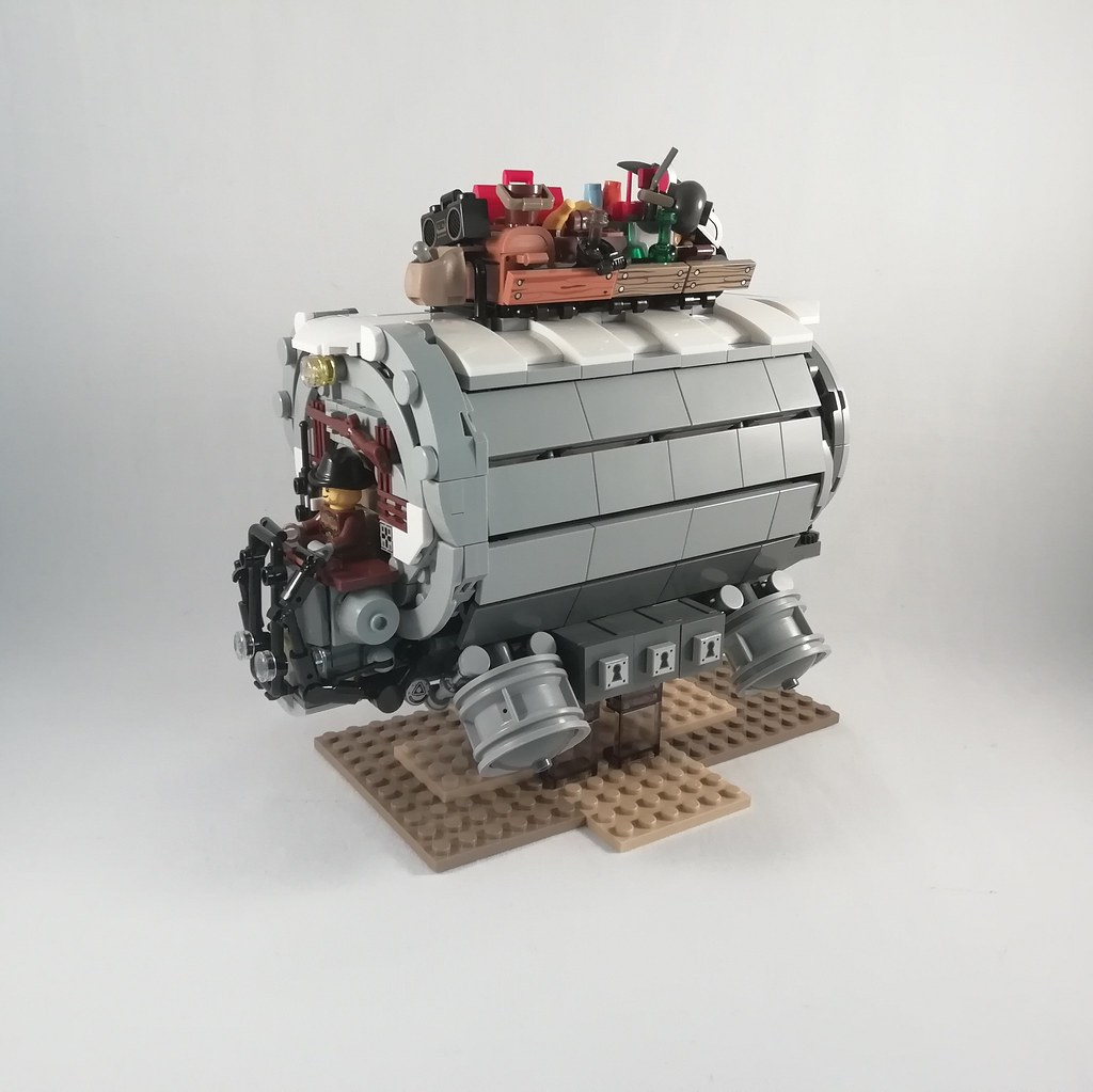 Futuristic stagecoach (custom built Lego model)