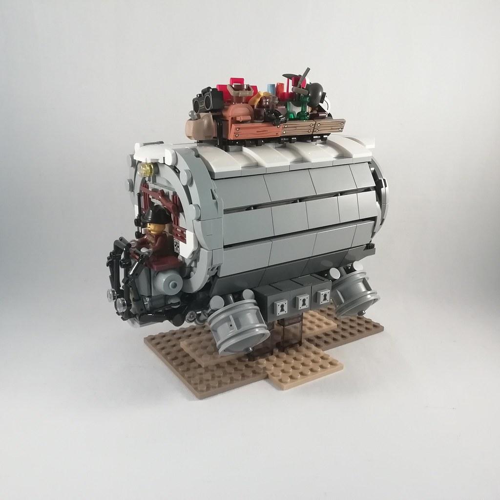 Futuristic stagecoach (custom built Lego model)