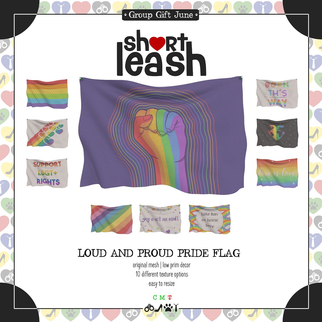 .:Short Leash:. Loud and Proud Pride Flag