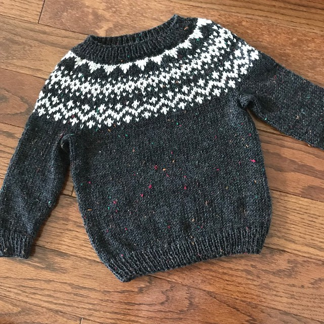 Dog Star by tincanknits for my grandson Caleb is off my needles
