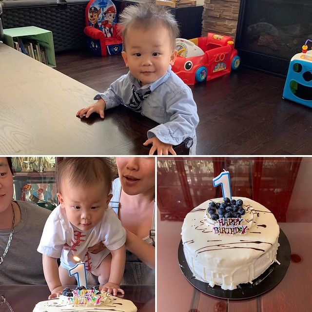 Caleb, my youngest grandson turned one